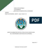 Aspectos Administrativos FOUSAC -Grupo 2