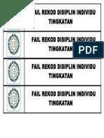 Label Tulang Fail Disiplin