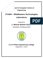 It1404 Middleware Lab Manual