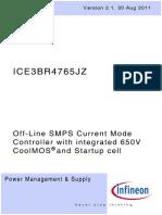 Infineon-ICE3BR4765JZ Oscilador Fuente Conmutada Fly Back