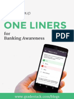 One Liner Updates Banking Awareness SBI Clerk Mains1
