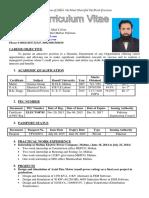 2016 CV of Waseem Ahmad