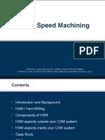 High Speed Machining Presentation