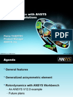 Rotor Dynamics With ANSYS Mechanical Solutions