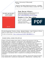 Post-Soviet Affairs Volume 21 Issue 1 2005 [Doi 10.2747%2F1060-586X.21.1.1] Colton, Timothy; Goldman, Marshall; Saivetz, Carol; Szporluk, Ro -- Russia in the Year 2004