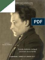 vente Antonin Artaud