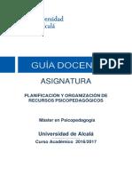 201636 Planificacion y Org Recursos Psicoped 16 17
