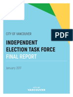 CITY of VANCOUVER Election Reform Task Force Jan 2017-Rr3AppendixA