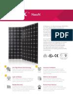 LG Solar PV Panel Black 300 Brochure
