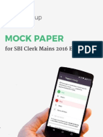 SBI Clerk Mains Mock Paper