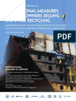 Shipping Industry Guidelines on Transitional Measures for Shipowners Selling Ships for Recycling