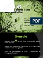 In solving plastic waste disposal problem