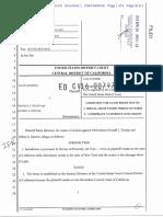 Jane Doe v Donald J. Trump, Et Al., US Dist Ct, Central Dist of Cal, Case No. 5-16-Cv-00797-DMG-KS