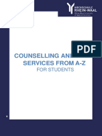 Counselling and Services a-z for Students