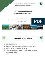 Paparan Dirjen Anggaran - Rakorbangpus Rapbn 2016