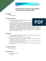 Le programme SAC Entrepreneuriat à l'École-des-Cœurs-Vaillants, École communautaire entrepreneuriale (ÉCE)