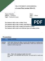 Model E-lesson Plan 1