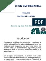 Unidad IX Proceso de Control