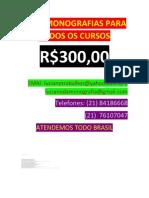 FAÇO MONOGRAFIAS PARA TODOS OS CURSOS