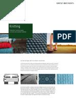 Knitting Anwendungsbroschuere Flachstrick ES