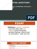 revision of literary essay