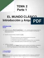 Tema 2 Parte 1- Mundo Clasico Arquitectura