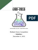 MultipleChoice Solution Final 2015