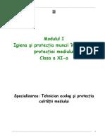 Igiena Si Protectia Muncii in Domeniul Protectiei Mediului