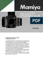 Mamiya RZ67pro2 Manual