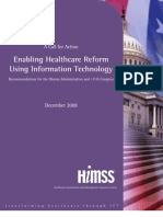 Call To Action by HIMSS from December 2008