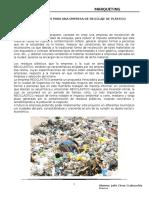 Propuesta de Empresa de Reciclaje