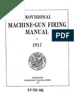 XProvisional Machine Gun Firing Manual