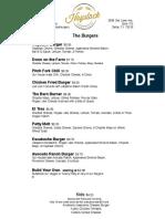 Haystack Burger Barley Turtle Creek Dallas Menu PDF