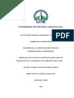 Propuesta de Un Manual de Bpm en El Restaurante Chuquitos, De La Ciudad Del Tena, Provincia Del Napo