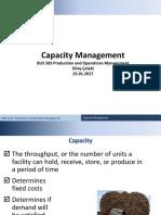 III - Capacity Decisions