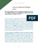 Quand Cioran Admirait Hitler
