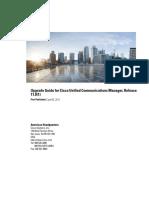 Cisco UCM 11 Upgrade guide