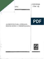 Aba - Def y Terminologia - Covenin 1754-82