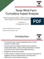 South Texas Radar Report ~ Wind Farm Cumulative Impact Analysis