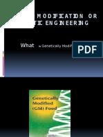Genetic Modification or Genetic Engineering