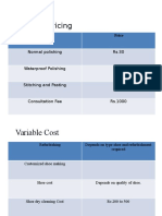 Product and Pricing