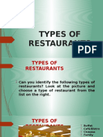 Types Restaurants