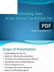 Withholding Taxes i Cap
