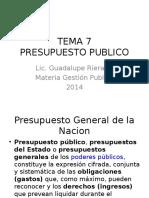 TEMA 8 Presupuesto Publico