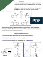 CHEM 344 Stereochemistry Review