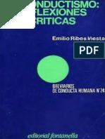El Conductismo. Reflexiones Críticas - Ribes.