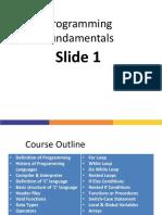 Lec01 Programming Fundamentals