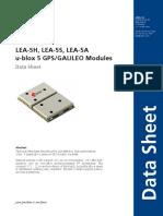 Lea 5x Data Sheet(Gps.g5 Ms5 07026)