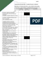 organization study skills checklist middlehighschool 2013 2014