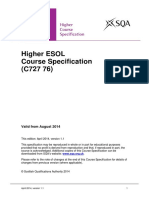 CfE CourseSpecification Higher Languages ESOL
